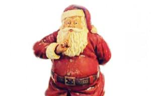 サンタクロースが出迎えてくれる