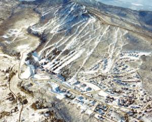 上空から見たスキー場