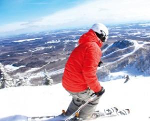 滑っている途中からは広大な 風景を眺めることができる