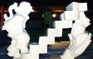 雪像の展示会もあり