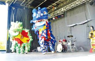 日本の獅子舞に似たものもある
