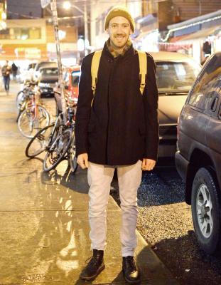 David/Chef 冬色で揃えたシンプルなコーディネート。 ニット帽とチェックスカーフがgood☆