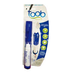 E 歯痛で困らないためにも携帯用歯ブラシセットは準備しよう。 TOOB Travel Toothbrush $4.75