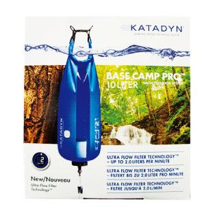 E 生きるために必要な飲料水を作るポンプ不要の浄水器。KATADYN Base camp pro 10L filter $105