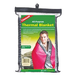 C カナダでは防寒対策も必要。防風、防雨仕様かつ保温機能のあるブランケット。Coghlan's Thermal Blanket $21.99