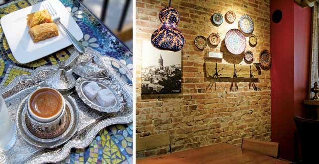 (左)トルコの伝統的なスタイルを満喫できる(右)トルコ在住のアーティストが作ったカボチャのランプ