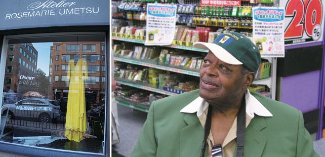 (左)Yorkvilleのブティックを会場に行われたレセプション (右)ヨドバシカメラにて
