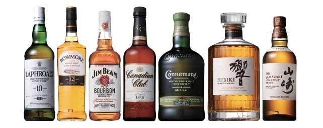 ▲5大ウィスキーの代表的製品