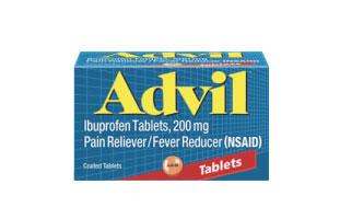 Advil(アドビル) Regularタイプは200mg、Extra Strengthは400mgのイブプロフェンが配合されている。抗炎症作用があるので、生理痛やのどの痛みなどにも有効。