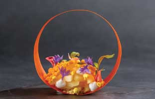 Carrot Hoop リンゴやココナッツにレモングラスなどの香草を使った 爽やかな一皿