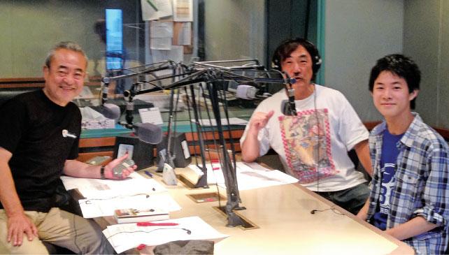 2015年7月、ラジオ番組「セイタロウ&ケイザブロー おとこラジオ」に出演(パーソナリティーの大野勢太郎氏、ケイザブロー氏と)