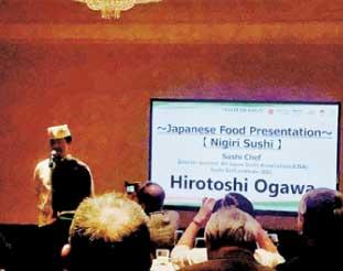 農林水産省主催のTaste of Japan。美味しい和牛、美味しいお米でお寿司など頂きました
