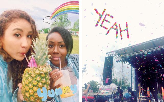 左:南国ジュース 右:Summer of Reggae Fest