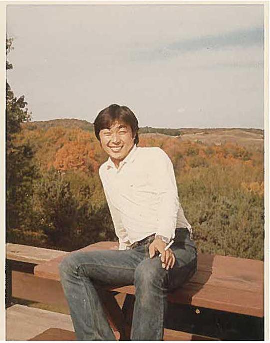木村さんがカナダに来て初めて撮った写真。カナダの紅葉に感動したとのこと。