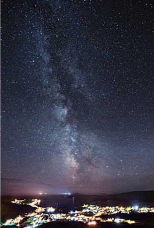 得意としている天の川の写真