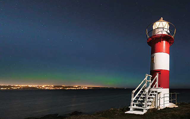 Green Point Lighthouse  Northern Lights Oct 2016