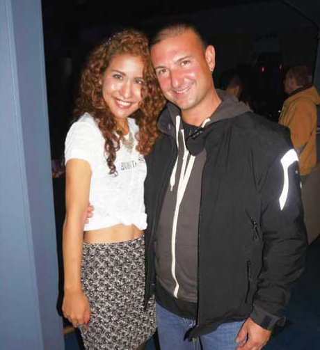 高校時代のドラム教師、Adrian Passarelliがコンサートに来てくれた時