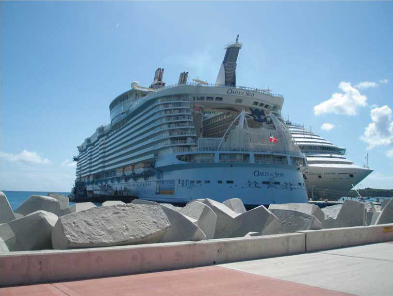 セントマーテインで巨大船オアシス号