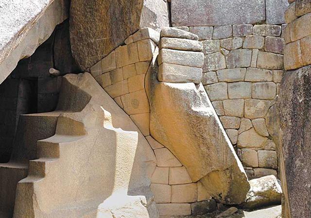岩の芸術作品