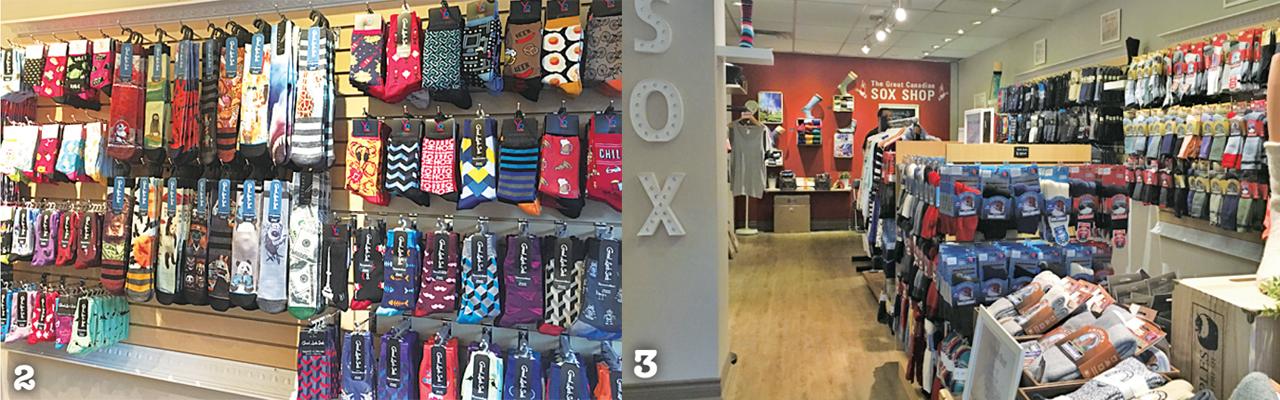 2 Good Luck Sock  3 店内にずらりと並べられた何足もの靴下