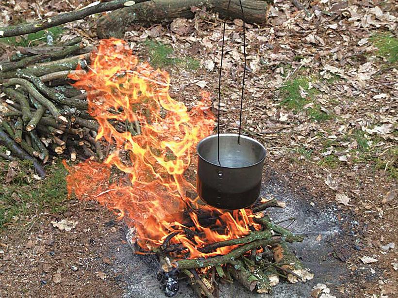 Dave 豪快なキャンプファイヤーで作るご飯が一番美味しい!!