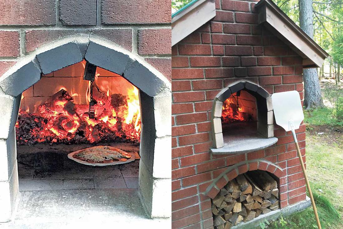 森の中にあるピザ釜で、ホームメイドピザを焼き上げる。楽しみながら本物の味わいを堪能できる!