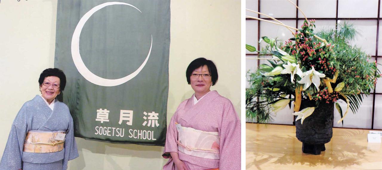 右:阿部京子さんの大作