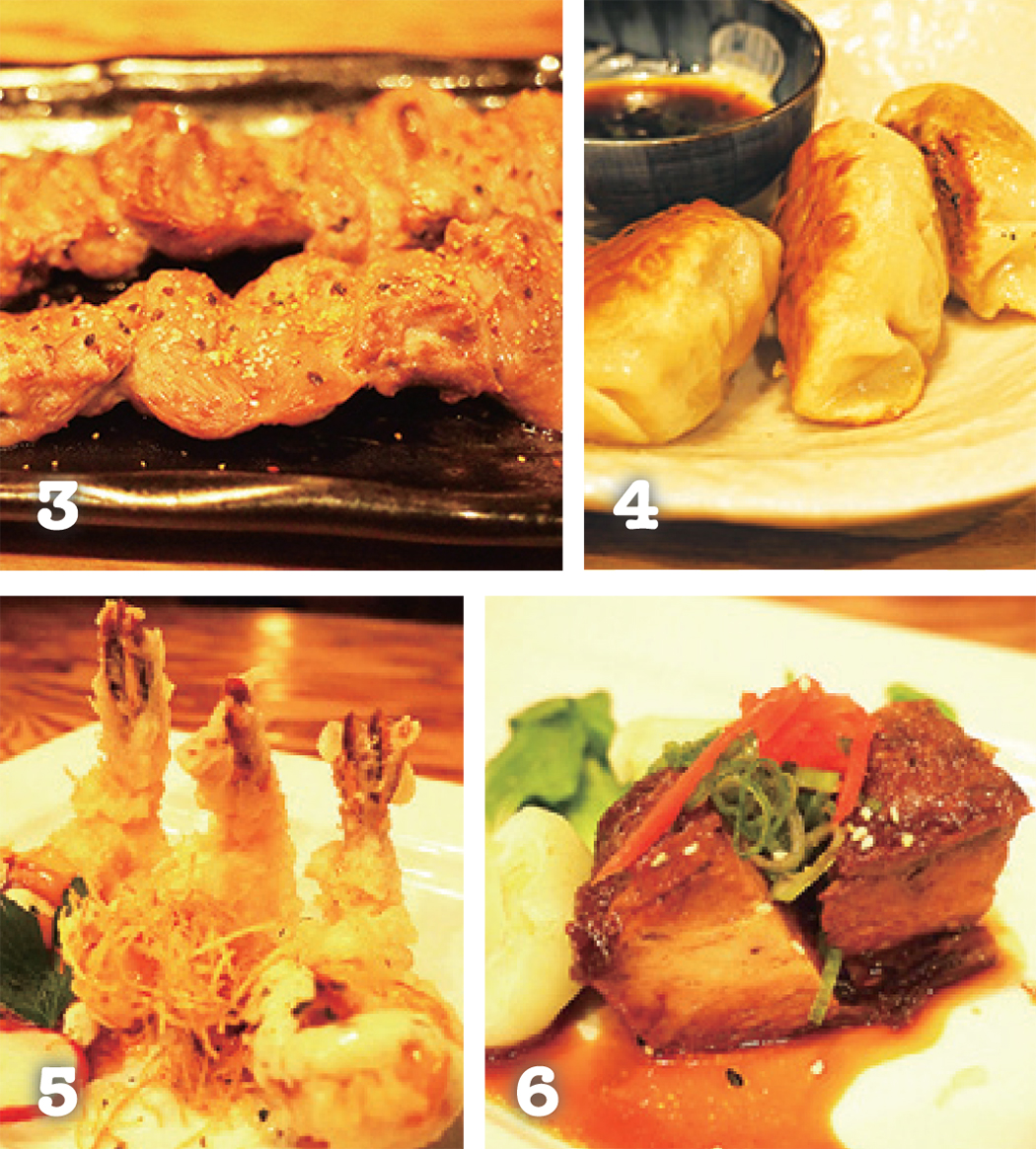 3 炭の香りがかぐわしい焼き物 4 和食で恋しくなるものは一通り揃っている 5 大人気メニューのえびマヨ 6 甘辛い味付けがたまらない豚の角煮