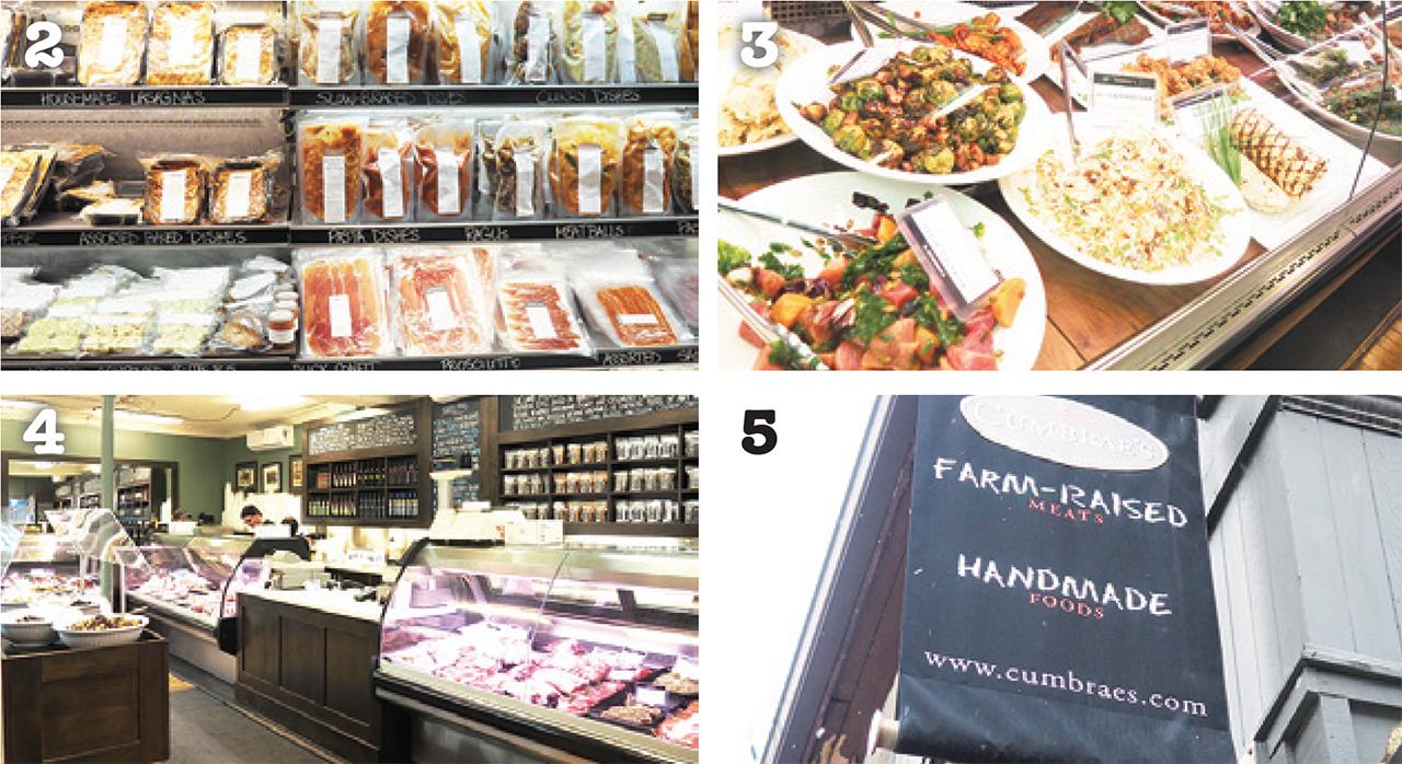 2 食卓が豊かになりそう 3 肉以外にも豊富な品揃えの惣菜 4 すっきりと洗練された店内 5 黒の高級感ある外観