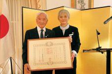 フランク・モリツグ氏 戦後カナダにおける日系人の地位向上及び日本文化の促進に寄与した功績がたたえられ、旭日双光章を受章|平成30年秋の外国人叙勲伝達式