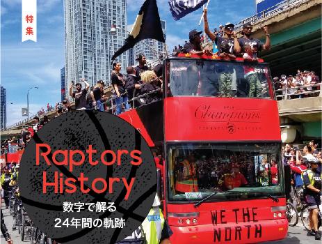 Raptors History 数字で解る 24年間の軌跡|特集 トロント・ラプターズ