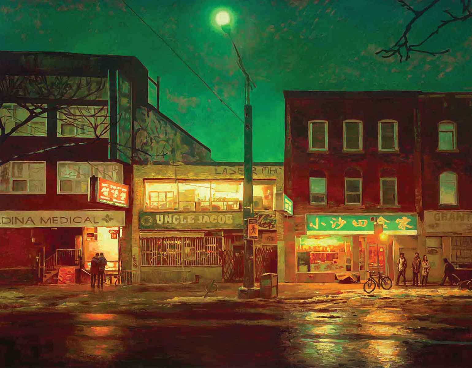 Green Hour, 2018, oil on linen, 72 x 96 inchesCourtesy of Nicholas Metivier Gallery, Toronto