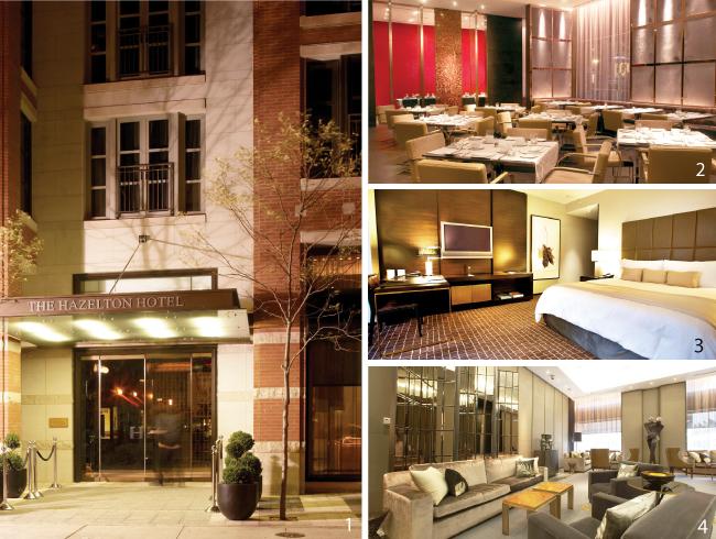 1高級感あるエントランス2併設された人気レストランONE3客室は天井が9feetもあり広々としている4ロビーのインテリアも高級でお洒落