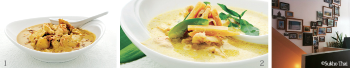 ▲1. GAENG MASAMAN(Masaman Curry) 2. GAENG KIAW WAN(Green Curry)