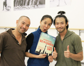(左から)ダンサーの井上勇一郎さん、Mami Hataさん、小山まさしさん