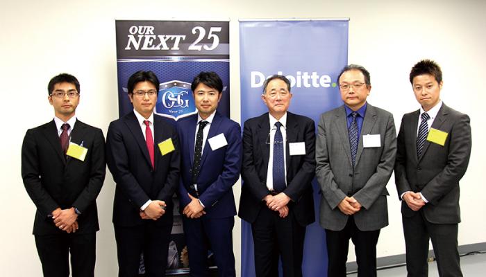 (左から)牧原貴宣さん/福岡宏之さん/吉川健一さん 北脇秀夫さん/澤村宣亮さん/深堀宗一さん