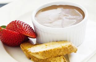 甘すぎないチョコレートクリームブリュレ