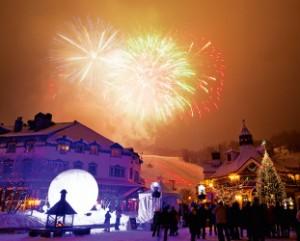 特別なイベントには花火を見ることができる