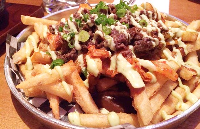 Kimchi Fries with Bulgogi ($11)