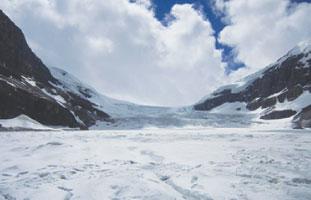 一年中氷に包まれたColumbia Icefield