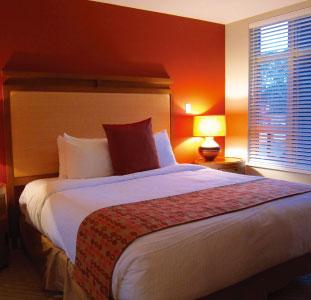 部屋はバチェラーから3ベッドルームまでサイズは様々