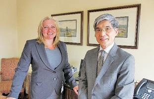 Linda Hasenfratz CEO & Yoshi Ichida