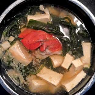 ロブスターと豆腐のスープ