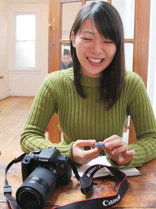 今後、カメラをどのように活用していきたいかなど、楽しそうに語ってくれた悠希さん