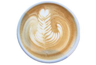 チョコレート風味のコーヒー豆を使用