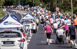 車椅子の人もレースに参加することができる