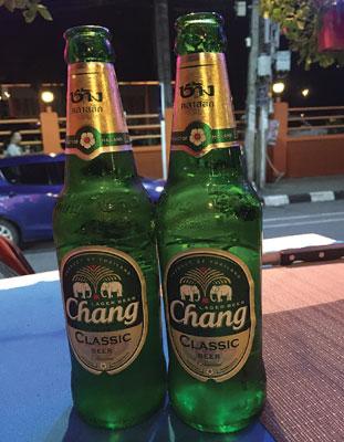 タイ料理にはやっぱりチャンビールがあう
