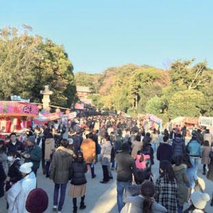 鎌倉八幡宮への初詣。