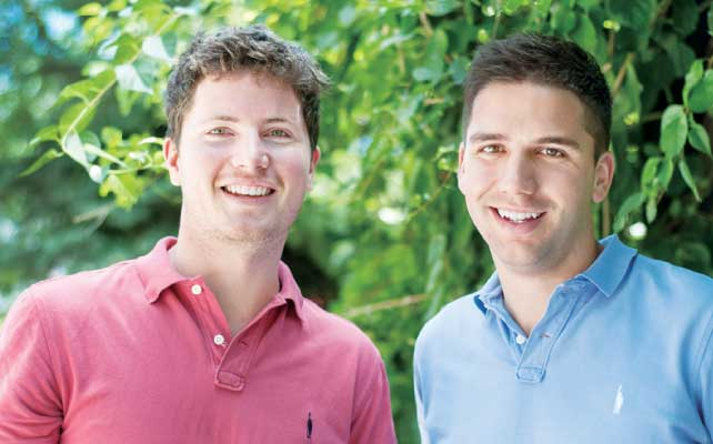 今回インタビューに 応じてくれた共同創業者のJamie Shea(右)とパートナーのPatrick Meyer(左)