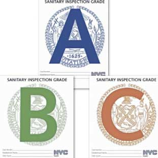 3ニューヨークの衛生管理検査も3種類。点数制でグレードが決まり、罰金もあるとか…